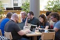 Wikimedia Hackathon Vienna 2017-05-19 lounge 037.jpg