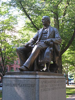 Olin Levi Warner - Image: William Lloyd Garrison on Commonwealth Avenue, Boston
