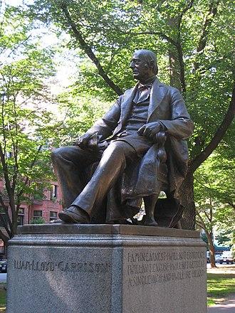 Olin Levi Warner - Image: William Lloyd Garrison on Commonwealth Avenue, Boston