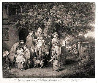 William Redmore Bigg - Sunday morning - A Cottage Family going to church.