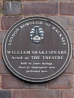 William shakespeare acted at the theatre (hackney)