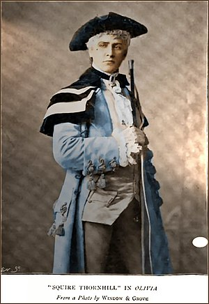 William Terriss - Terriss as Squire Thornhill in Olivia, 1878