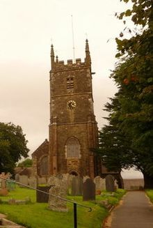 Winkleigh, parish church of All Saints and war memorial - geograph.org.uk - 1464723 (cropped).jpg