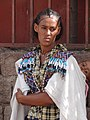 Woman with Baby in Traditional Dress - En route from Adigrat to Korem - Ethiopia (8722215647).jpg
