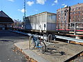 Woodmere LIRR Station; Shelter and Bicycle Rack.JPG