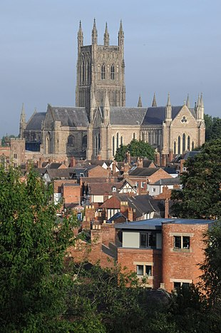 "<a href=""http://search.lycos.com/web/?_z=0&q=%22Worcester%20Cathedral%22"">Worcester Cathedral</a> from Fort Royal Hill"