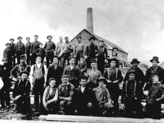Dalhousie, New Brunswick - Lumber Sawmill Workers in Dalhousie, N.B., circa 1900
