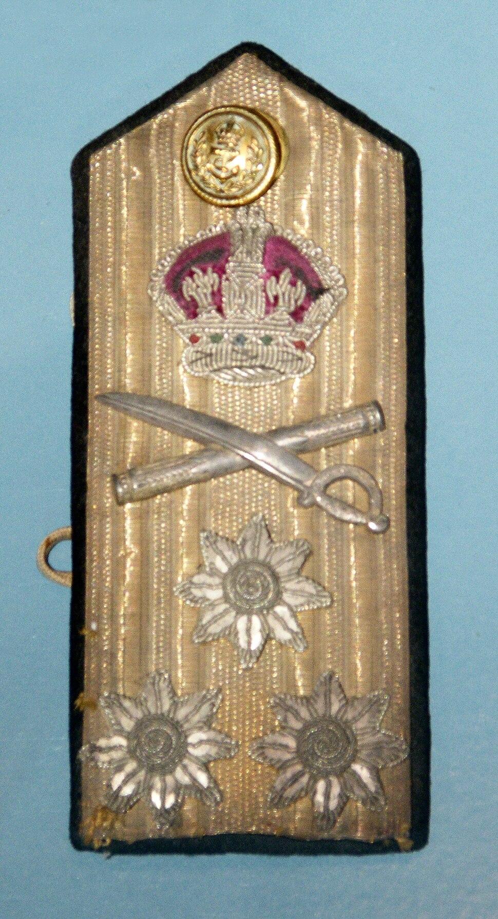 World War II Royal Navy admiral's shoulder board