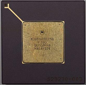 Freescale 683XX - XC68360RC25B CPU in PGA
