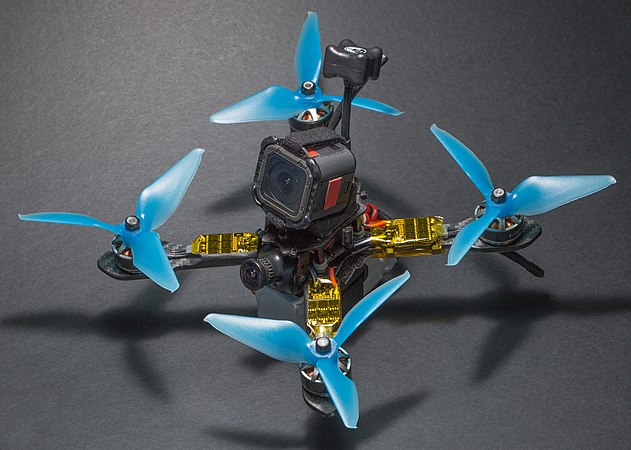 XLabs Shrike V2 200 mm quadcopter frame with components.jpg