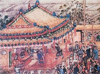 Chinese opera - Theatre play, Prosperous Suzhou by Xu Yang, 1759