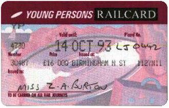 16–25 Railcard - The third APTIS version