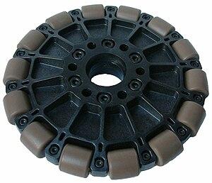 Omni wheel - A molded plastic omni wheel
