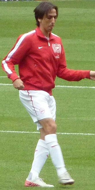 Yossi Benayoun - Benayoun warming up for Arsenal in 2011