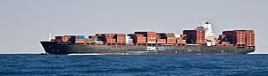 Zim Integrated Shipping Services - ZIM Barcelona off California, 2008