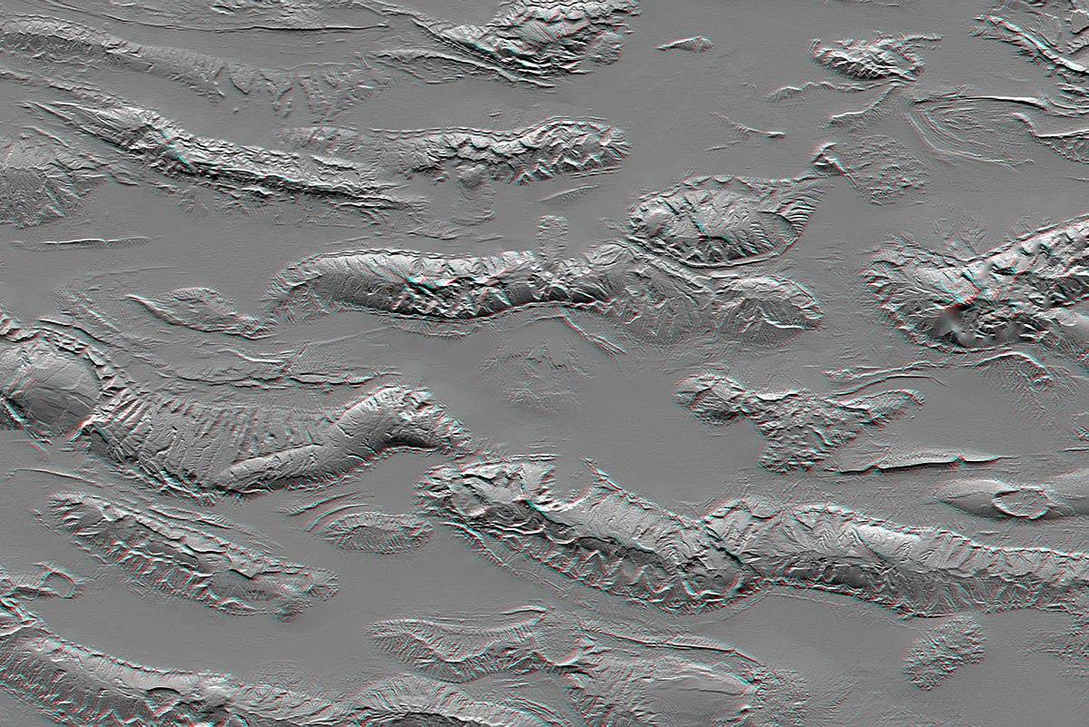 Shuttle Radar Topography Mission Wikipedia - Satellite height map