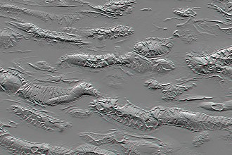Shuttle Radar Topography Mission - SRTM Shaded Relief Anaglyph of Zagros Mountains.