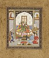 Zahhak Enthroned with the Two Daughters of Jamshid, Page from a Manuscript of the Shahnama (Book of Kings) LACMA M.83.27.2.jpg