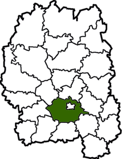 Raion location in Zhytomyr Oblast
