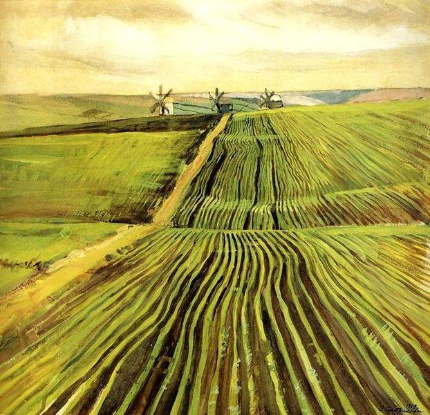 Archivo: Zinaida Serebriakova The Shoots of Autumn Crops.jpg