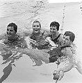 Zweminterland Nederland tegen Engeland te Groningen, Nederlandse dames 4x 100 me, Bestanddeelnr 916-5945.jpg