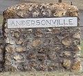 """Andersonville"" detail, Andersonville Prison Park exit (cropped).JPG"