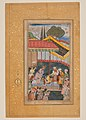 """Emperor Babur Receiving a Visitor"", Folio from a Baburnama (The Book of Babur) MET DP-12601-001.jpg"