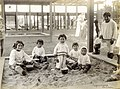 """Esquimaux Children."" (children playing in the sandbox at the Model Playground of the 1904 World's Fair).jpg"