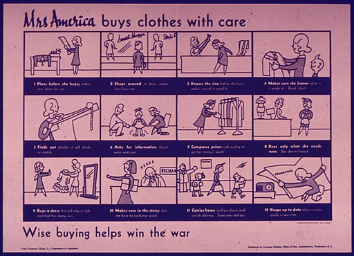 """Mrs. America buys clothes with care"" - NARA - 515034"