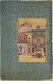 """Shaikh San'an beneath the Window of the Christian Maiden"", Folio18r from a Mantiq al-tair (Language of the Birds) MET DT4820.jpg"