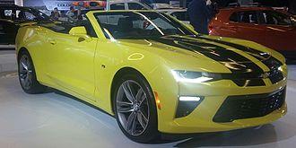 Chevrolet Camaro (sixth generation) - Image: '16 Chevrolet Camaro Convertible (MIAS '16)