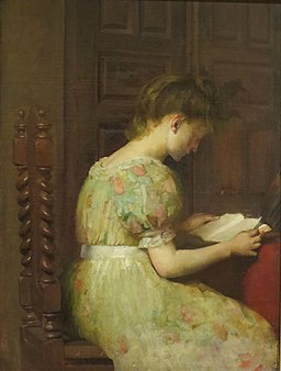 'Girl Reading' by Mary Colman Wheeler, El Paso Museum of Art