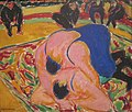 'Wrestlers in a Circus' by Ernst Ludwig Kirchner, 1909.JPG