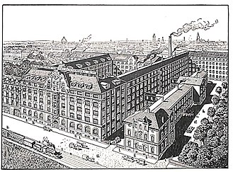 Stempel Type Foundry - Factory of the Schriftgießerei D. Stempel in the year 1913