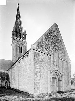 Asnières-en-Bessin - The church before 1919