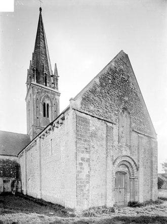 Asnières-en-Bessin - The church before 1919
