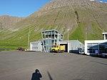 Ísafjörður airport control tower.jpg