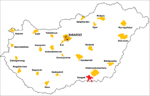 Hungarian local elections, 2010 - Elected mayors in the Budapest districts and in the largest Hungarian cities by parties