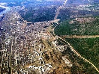 Ust-Kut - Aerial view of Ust-Kut