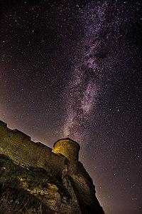 Чумацький шлях над вежею - Генуезький замок (цитадель).jpg