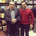 الكاتب أمير عاطف في احتفالية بالدكتور أحمد خالد توفيق.jpg