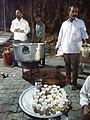 कोजागरी निमित्त सार्वजनिक स्वरूपात मसाला दूध तयार करताना.jpg