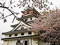 桜と唐津城 (Karatsu Castle with Cherry blossoms) 30 Mar, 2014 - panoramio.jpg