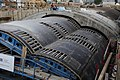 01Mobil tunnel forms Stalform for Moscow metro station. Механизированная опалубка для метро.jpg