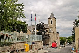 The church of St Flour, in Le Pompidou