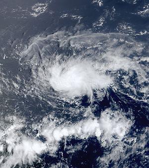2001 Atlantic hurricane season - Image: 02L Jul 12 2001 1420Z