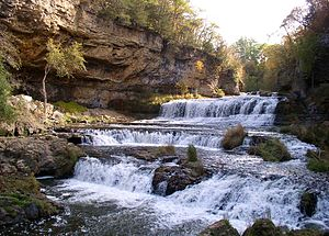 English: Willow Falls on the Willow River in W...
