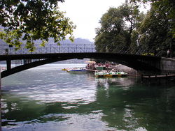 Pont des Amours à Annecy - Bridge of Love in Annecy