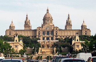 Museu Nacional d'Art de Catalunya - From view of the Palau Nacional, which houses the museum