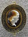 067 arte romana, testa di medusa di profilo, I sec. ac. ca.JPG